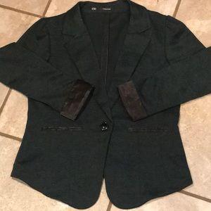 Maurices Jackets & Coats - Maurices Forest Green Blazer w/ Black Satin Trim